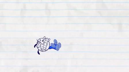 搞笑铅笔动画,没想到铅笔人惊险躲过生死劫