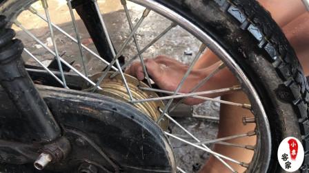 摩托车维修技术:轮胎安装操作,想学的学徒多看看!