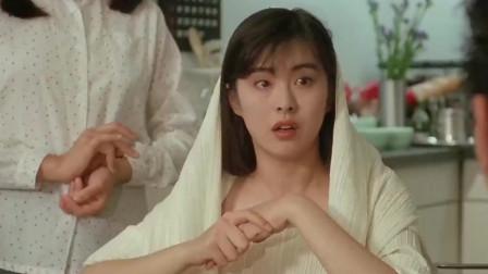 年轻时候的王祖贤太美了,刚洗完澡披着浴巾出来,华仔都看懵了