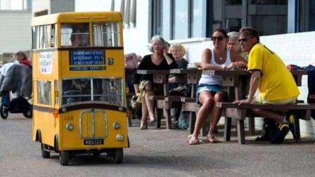 全球最迷你的公交车,想坐得提前预约,比娃娃车还可爱!
