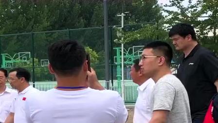 姚明在盘锦高级中学,看看老大这身高,就想起美职篮的篮球水平