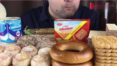 《农村美食》吃面包圈、威化饼和饼干等,吃得真香