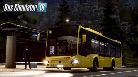 巴士模拟18 #83:夜间不翼而飞的40000欧   Bus Simulator 18