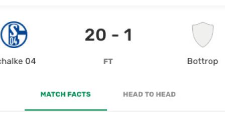 友尽赛!沙尔克20-1地区队 布格施塔勒狂轰6球