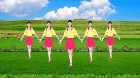 经典草原天籁广场舞《套马杆》豪迈奔放,放飞心情,32步动感飞扬