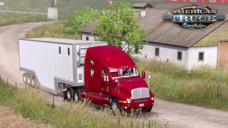 美洲卡车模拟-华盛顿州 #11:驾驶肯沃斯T2000向牧场运送干草   American Truck Simulator