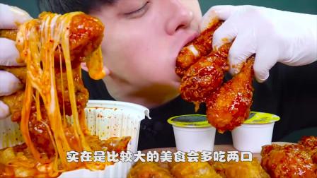 韩国吃货大嘴哥:吃鸡腿和炸酱面,看他吃东西厌食症都好了