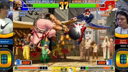 拳皇98:韩国顶级老手MADKOF对战广州大口,这场精彩比赛悬念不断