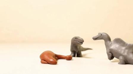 趣味益智动画片 一只睡觉的恐龙打跑了四只强壮的大恐龙