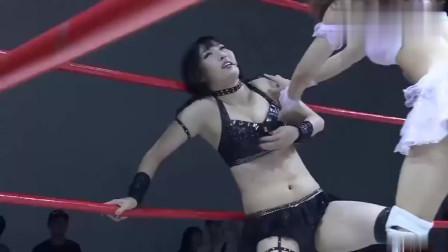 可爱日本美女对战!身材娇小打架却很猛!