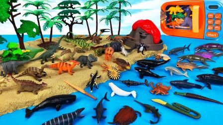 海王龙组装沙滩海洋馆和恐龙世界乐园