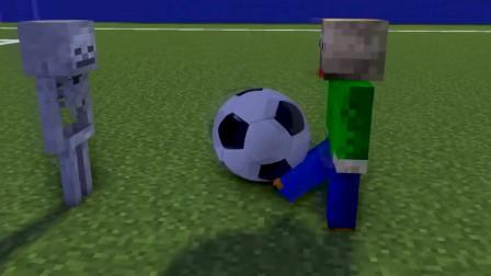 MC动画:怪物学校,足球训练,巴迪作为对手实力太强