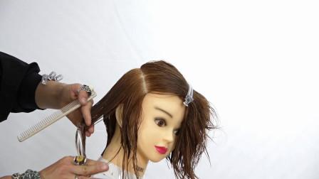 短发侧部区修剪技巧,商业剪发教程!