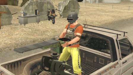 吃鸡动画:AWM和M249组成的新武器,居然能装下100发子弹