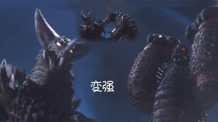 雷德王与哥莫拉因心向和平而进化为EX雷德王和EX哥莫拉,暴打大boss