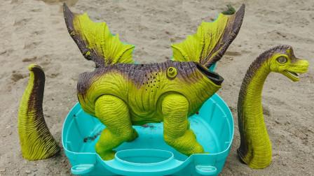 户外组装长翅膀飞天长颈恐龙