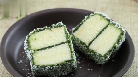 烘焙教程:抹茶林明顿蛋糕