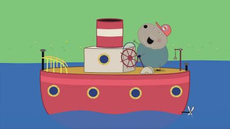 狗爷爷驾驶着轮船缓缓而来