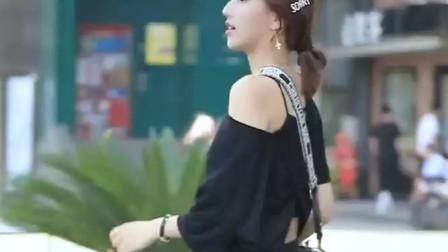 街拍小姐姐,黑裙性感,好好看