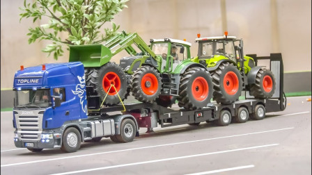 哇哦!一起看看这些工程车都在做什么吧!趣味玩具故事