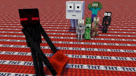 我的世界MC动画:怪物学院 恩曼变成了恶棍邪恶撕裂
