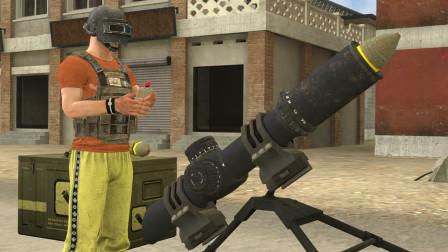 吃鸡动画:8倍镜和手雷组成的迫击炮,居然能制造轰炸区