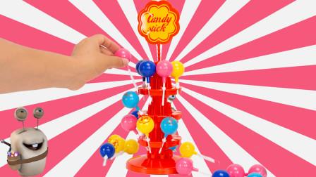 棒棒糖平衡塔 亲子互动桌面游戏玩具