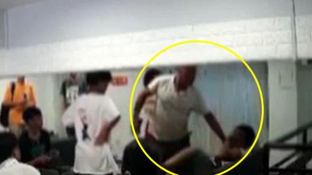广州一男子冲进奶茶店暴打无辜初中男生 以为女儿被拐