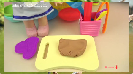 【宝宝玩具 玩偶 过家家】Play doh and Baby doll kitchen food cooking play【小玩具】