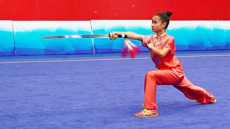 2018年全国青少年武术套路锦标赛 B组 女子剑术 009 刘燕林(成都体院)