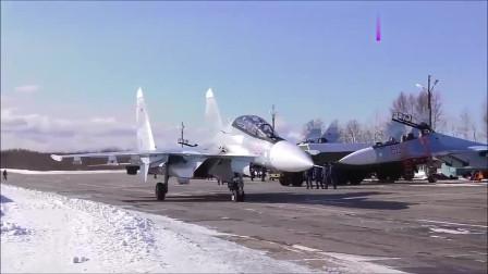 俄罗斯空军展示苏-35战斗机群, 网友评价霸气