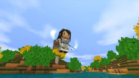 """迷你世界:小表弟又骗我,木斧头扔河里,根本不会变成""""金斧头"""""""