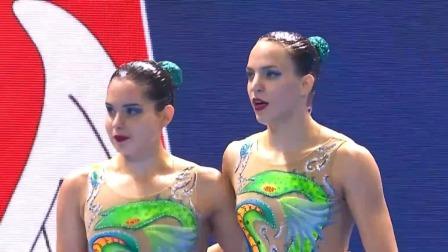 双人自由自选预赛-塞尔维亚队 2019 FINA游泳世锦赛 29
