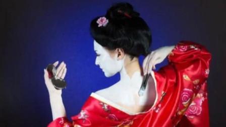 日本艺伎化妆有多狠?直接将白漆往脸上刷,网友:我就等你卸妆!
