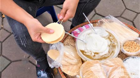 """街头手工自制""""麦芽糖夹心饼干"""",做法太有创意了!"""