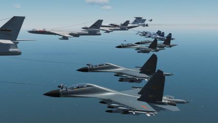 230架战斗机,长途飞行3000公里!能否攻下敌方军事基地?战争模拟