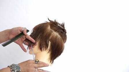 短发最重要的刘海部分修剪技巧,剪发教程!
