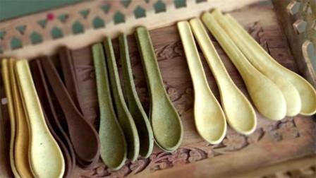 印度大叔发明能吃的勺子,定外卖再不愁垃圾分类,国内啥时引进?