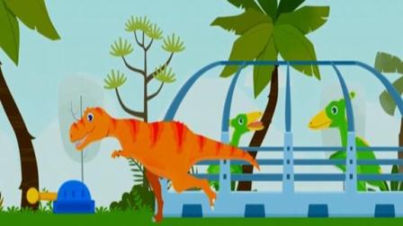 侏罗纪救援超级救援队勇闯恐龙岛恐龙世界大冒险霸王龙历险记恐龙大营救 陌上千雨解说