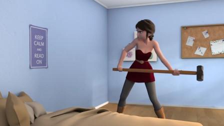 耿直女孩被隔壁噪音骚扰,于是二话不说就抡起了大锤,太疯狂了!