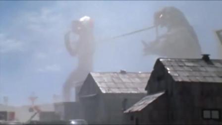 爱迪奥特曼连用三种光线,打败口喷火焰的石油怪兽