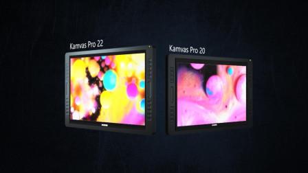 HUION/绘王2019新升级版Kamvas Pro 20&Kamvas Pro 22数位屏
