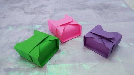 一张纸教你折纸蛋糕包装盒,简单漂亮用途又广,手工折纸大全视频