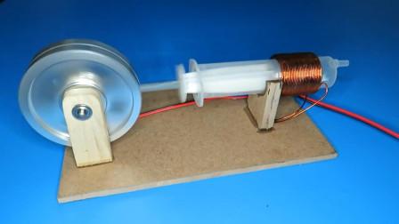 """理工男做了一台""""电磁发动机"""",你看懂它的原理了吗?"""