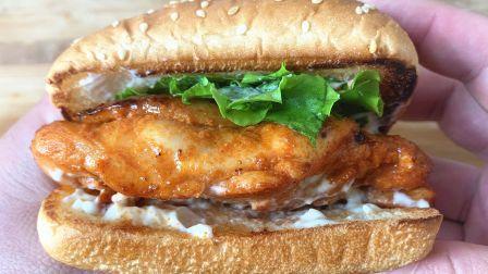 自制奥尔良鸡腿堡,超简单,只需不到5元钱,和肯德基一样美味