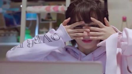 """佟年不小心看到韩商言的腹肌,""""吓""""得赶紧捂眼睛,小表情太可爱了"""