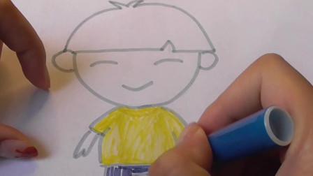 简笔画之小男生,尝试着画画自己的样子,看,多帅气(漂亮)呀!
