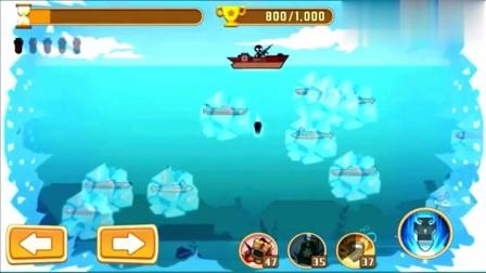 火柴人趣味游戏动画:火柴人大战潜水艇