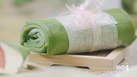 抹茶毛巾卷一口平底锅,半小时就能搞定的高颜值网红抹茶毛巾卷