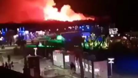 克罗地亚一音乐节举办地突发森林大火 数千名现场观众被紧急转移